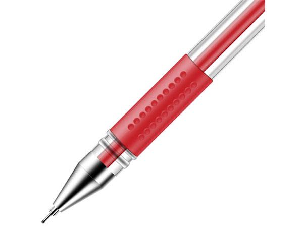 得力 6601 盒装0.5mm经济实用型中性笔 签字笔12支/盒 红色