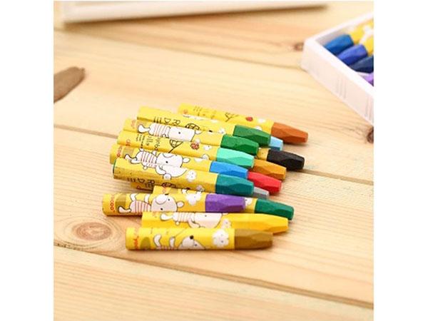 得力6963 24色学生丝滑油画棒 易上色认同蜡笔绘画笔