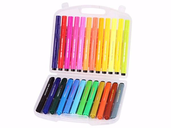 得力7064 绚丽多彩24色水彩笔绘画笔 盒装