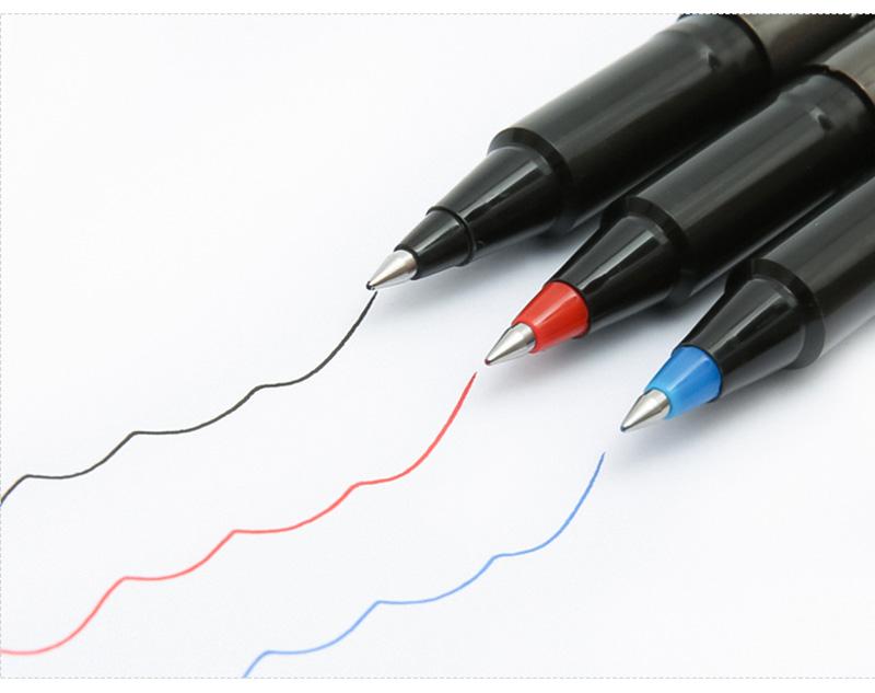 详情页10三菱 UB-155 蓝色直液式走珠笔 0.5mm学生考试用笔耐水办公签字笔 10支装