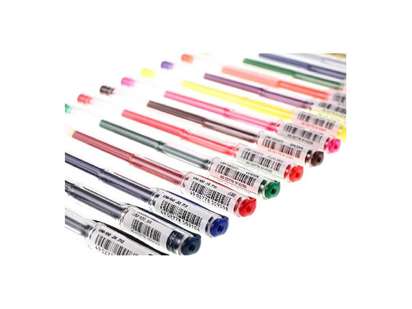 三菱 UM-100 学生用中性签字笔红色(替芯URM-5)0.5mm 5支装