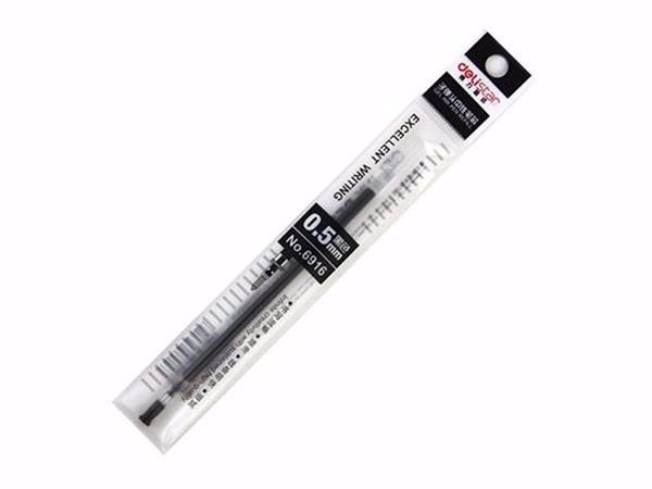 得力 6916 0.5mm红色中性笔替芯 子弹头水笔签字笔替芯 20支/盒