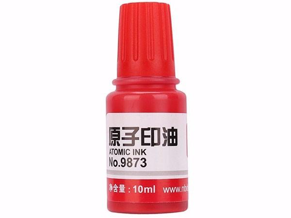 得力 9873 10ml  财务印章原子印油 红色院子印章油