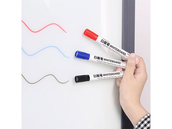 得力 色泽明亮可擦易擦白板笔 蓝色 10支/盒 6817