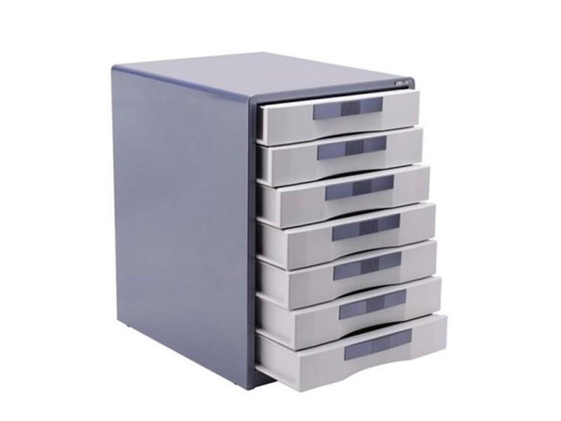 9703得力七层金属带锁文件柜