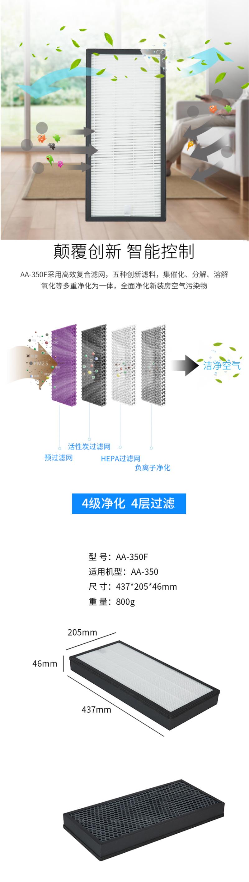 震旦AA-835F 空气净化器滤网