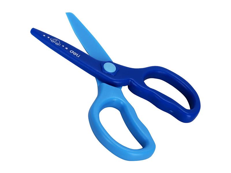 得力6067塑料剪蓝色