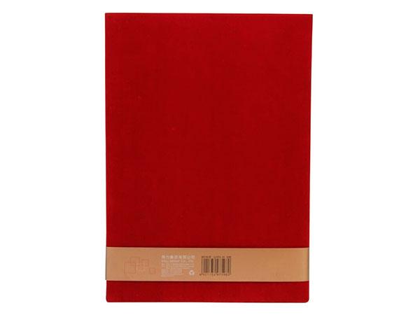 得力 50本8K荣光系列绒布浮雕工艺聘书 红色 7598-50