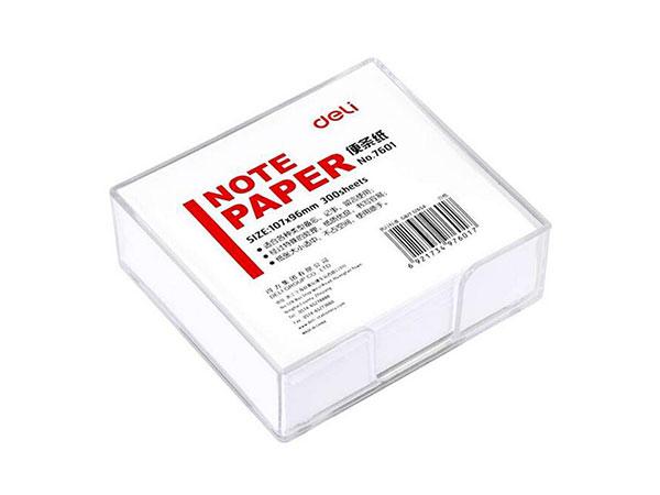 得力 107*96mm代盒便签纸/便条纸/便签本 7601-W