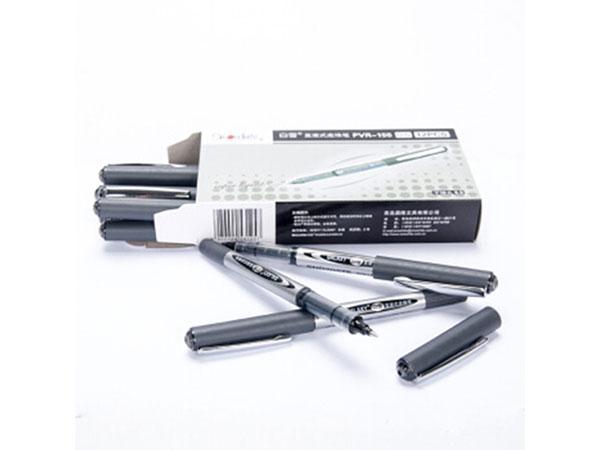 白雪0.5MM黑色直液式走珠笔学生考试中性笔签字笔水笔12支/盒 PVR-155