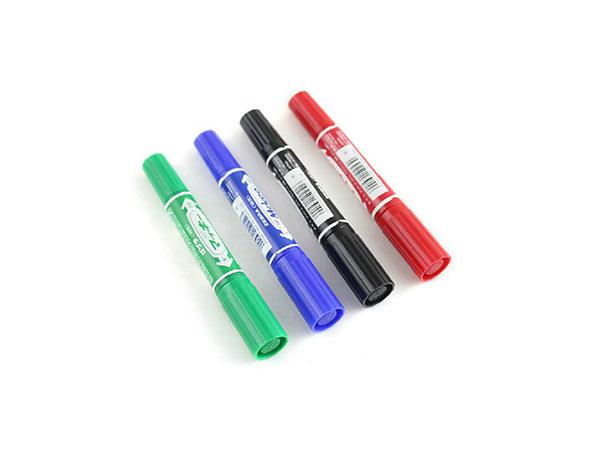斑马 10支装大双头记号笔 标记笔 油性记号笔 绿 MO-150-MC 原装进口