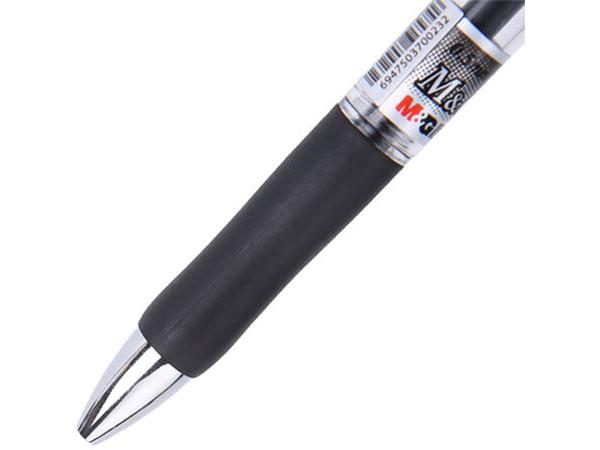 晨光 K35红色0.5mm经典子弹头中性笔安东签字笔水笔 12支/盒