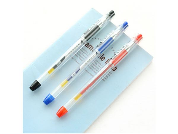 晨光 K-37红色0.38mm葫芦头财务中性笔签字笔水笔 12支盒