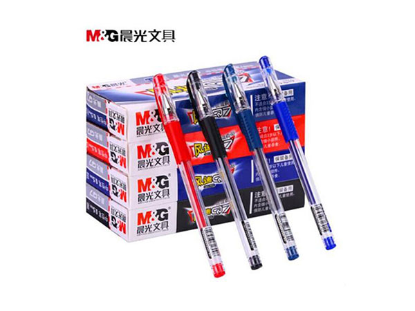 晨光 Q7红色0.5mm经典子弹头中性签字笔 水笔 12支/盒