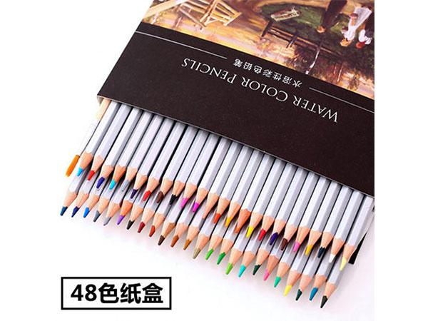 得力 48色水溶性彩色铅笔 水溶性彩铅套装 6520