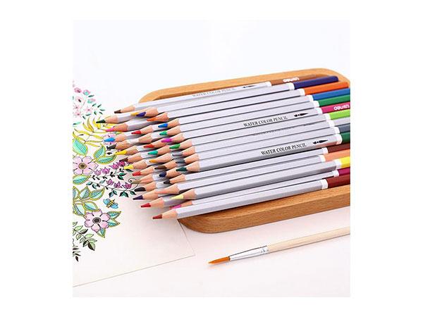 得力 24色水溶性彩色铅笔 水溶性彩铅套装 6521