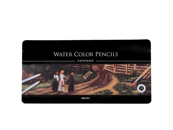 得力 72色水溶性彩色铅笔 水溶性彩铅套装 6524