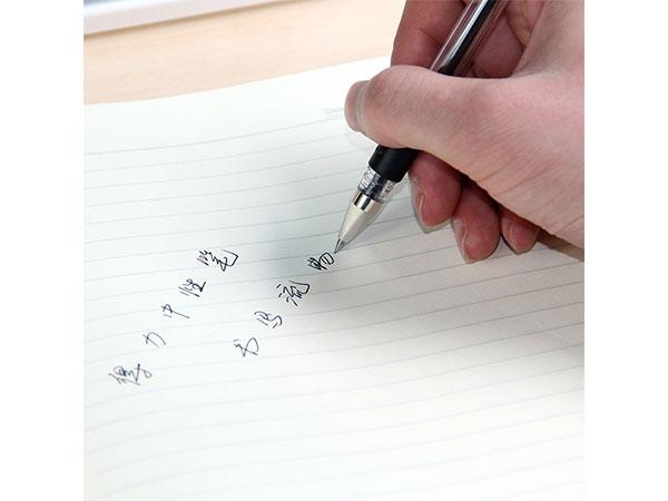 得力05mm经典办公中性签字笔 子弹头黑色12支/盒 6600