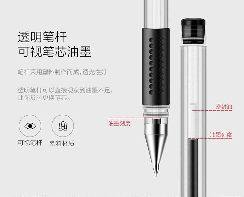 详情页3得力0.5mm中性笔笔芯6600ES替芯 红色子弹头 20支/盒