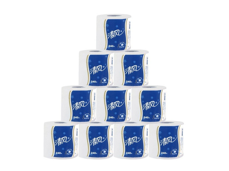 B22AT3BN清风卷筒纸(蓝) 10卷/提