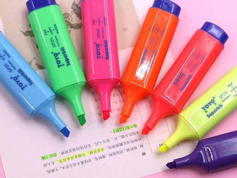 SP25东洋荧光笔 紫色