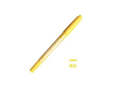 MO-120斑马小双头油性笔 黄色