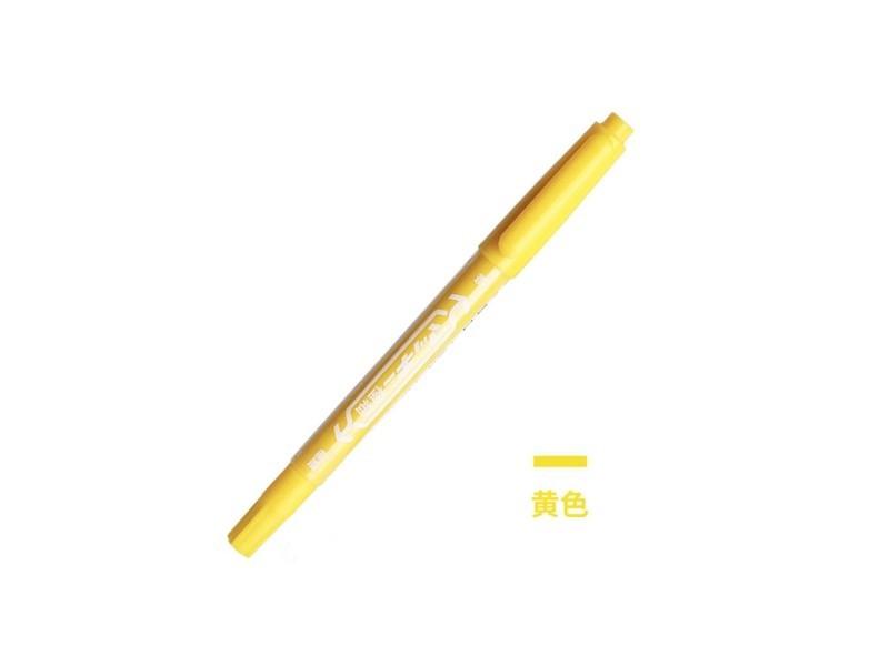MO-120B斑马小双头油性笔 黄色