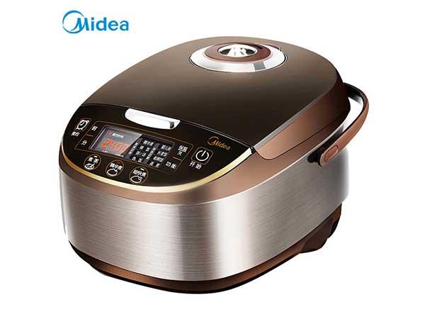 美的(Midea)电饭煲电饭锅5L大容量气动涡轮防溢锅金属机身电饭煲
