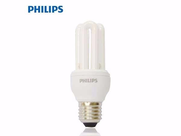 飞利浦U型灯泡E27大螺口2U3U灯能节 白光 2U14W自镇流荧光灯泡