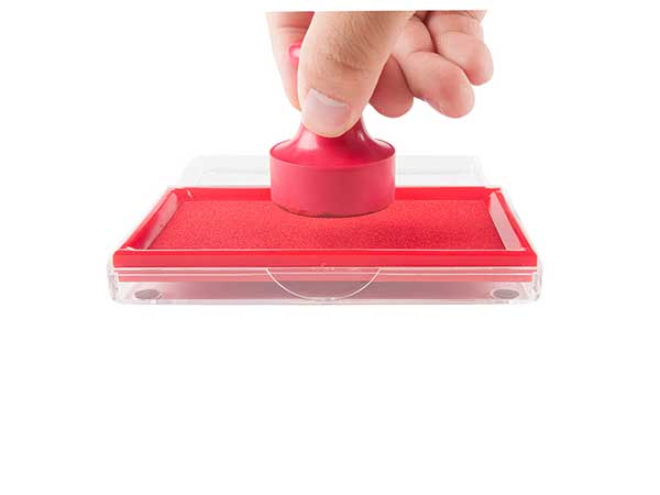 晨光红色13888mm财务专用方形透明快干印台印泥 单个装AYZ97513