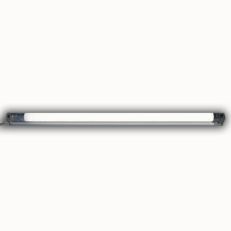 欧普照明led T8日光灯管支架0.6米0.9米1.2米改造荧光灯格栅灯24W T8-7W-0.6m灯管(双端通电) 白