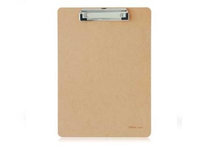 得力(deli)9226-02 全新原木质感商务型书写板夹2只装 土棕