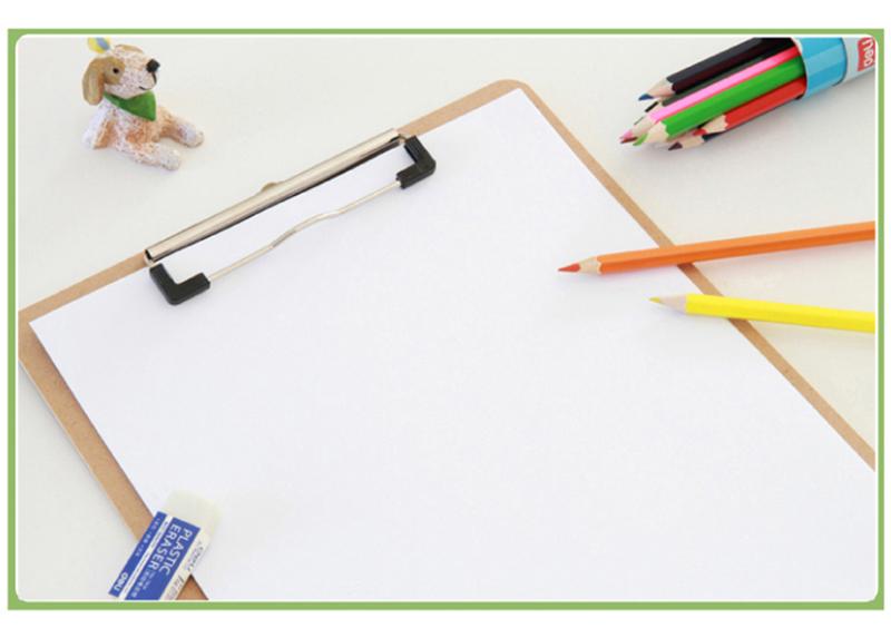 得力(deli)9226-02 全新原木质感商务型书写板夹2只装 土棕7