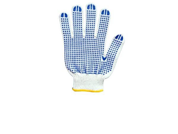 点塑胶纱手套