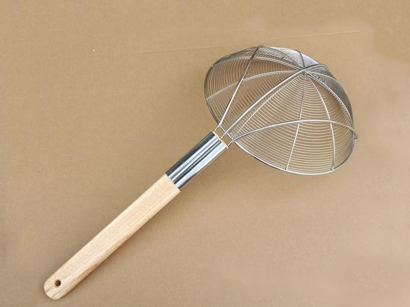 财荣 口径28cm木柄 大漏勺