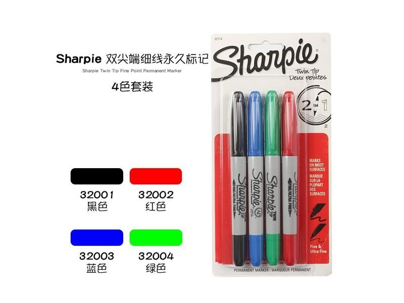 三福双头无尘记号笔sharpie32002(红色)