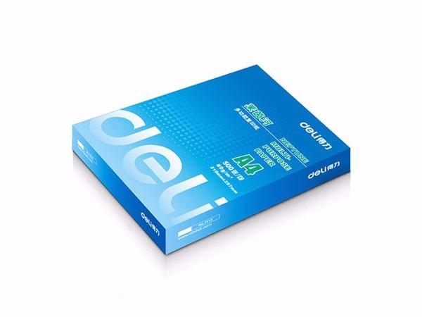 得力 莱茵河5包装70gA4复印纸 500张/包 整箱2500张