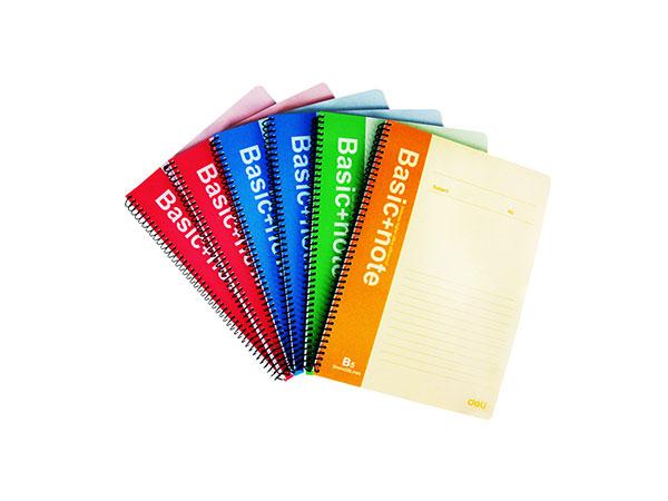 得力 6本B5/80页螺旋装订本软抄本记事本笔记本子 7694-6