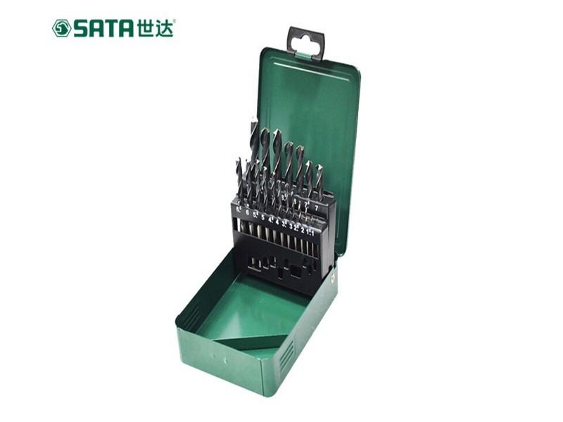 世达(SATA) 52919 直柄麻花钻组套 19件  高速钢
