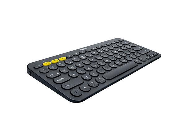罗技(Logitech)K380多设备蓝牙键盘 平板IPAD键盘 时尚便携  深灰色