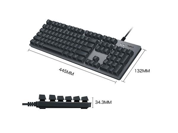 罗技(Logitech)K840时尚机械键盘 游戏机械键盘 罗技机械轴高速触发