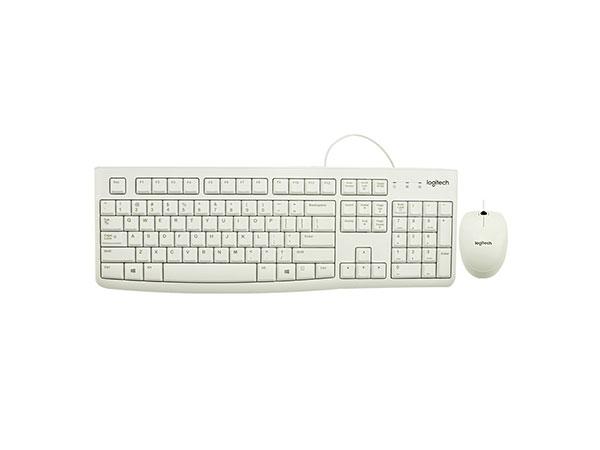罗技(Logitech)MK120 键鼠套装 鼠标键盘套装 白色