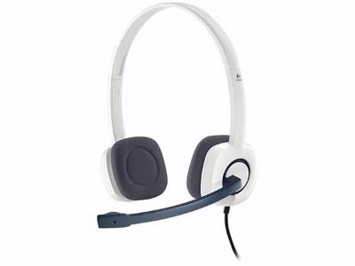 罗技(Logitech) H150 立体声耳机麦克风 白色