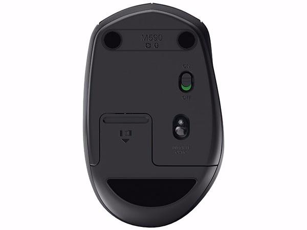 罗技(Logitech)M590 多设备静音无线鼠标 侧键 石墨黑