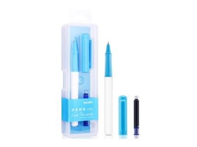 得力A902学生矫姿钢笔 可擦纯蓝