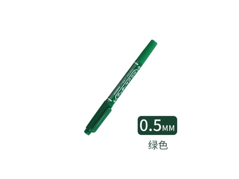 斑马B-YYTS5小双头油性笔 绿色