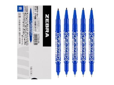 斑马小双头记号笔YYTS5-BL  蓝色
