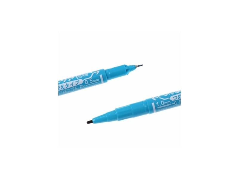YYTS5斑马小双头油性笔 浅蓝色