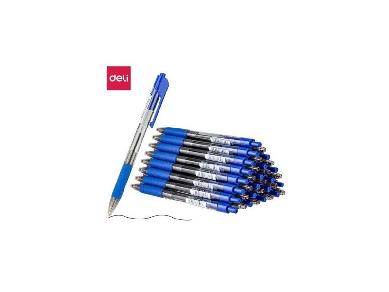 得力S316中油笔0.7mm迷你头(蓝)