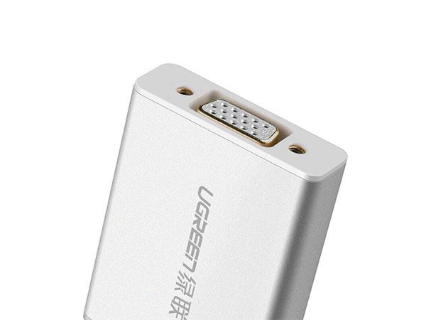 绿联10403 Mini DP(雷电)转VGA铝壳